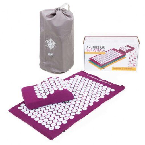 Akupunktuuri matt ja padi purpur